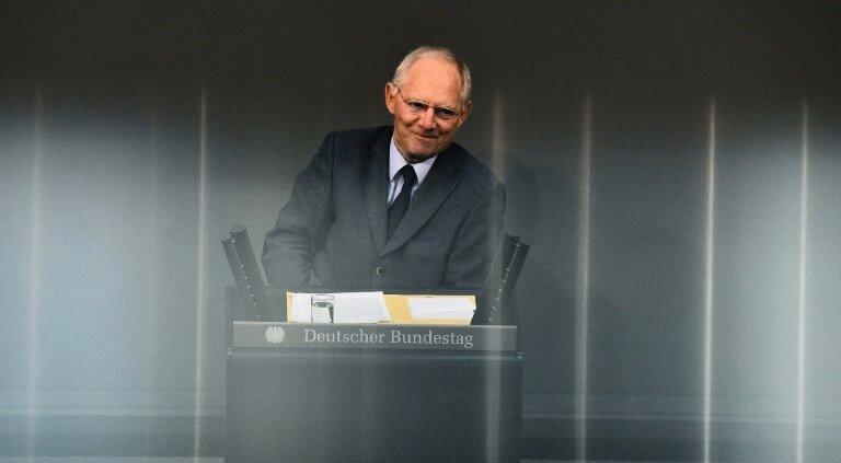 Schäuble im November 2015 im Bundestag