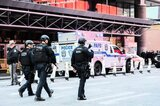 Polizeipatrouille nach der Detonation in Manhattan