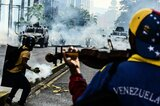 Protest der Opposition in Venezuela
