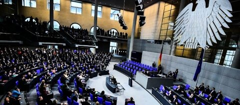 Blick in den Bundestag