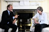Tusk und May im Juni in London