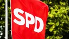 SPD-Flagge in Offenbach