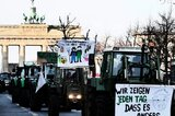 Demonstrationszug am Brandenburger Tor