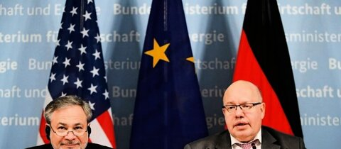 Minister Altmaier (r.) und Brouillette in Berlin