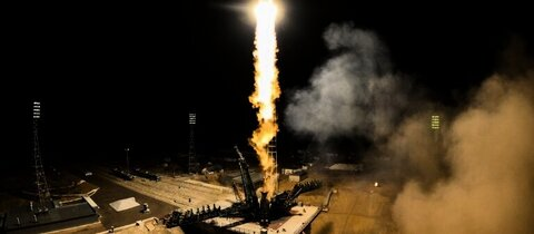 Sojus-Rakete bei Start in Baikonur