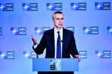 Nato-Chef Jens Stoltenberg im April in Washington