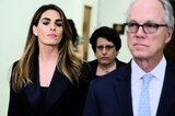 Hope Hicks (l.)