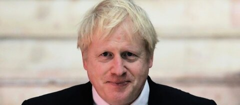 Boris Johnson am Sonntag in Biarritz
