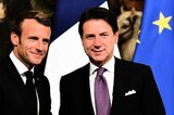 Macron (links) und Conte in Rom