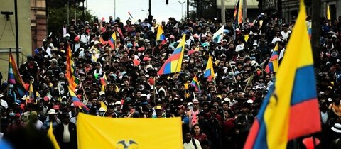 Demonstration in Quito