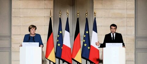 Merkel und Macron in Paris