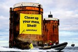 Greenpeace-Protest gegen Shell in der Nordsee