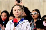Greta Thunberg bei Klimaprotesten in Denver im US-Bundesstaat Colorado