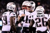 Quarterback Tom Brady und Co. feiern Sony Michel