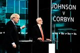 Johnson (links) und Labour-Chef Corbyn