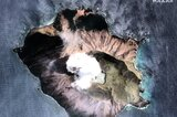 Satellitenbild der Vulkaninsel White Island