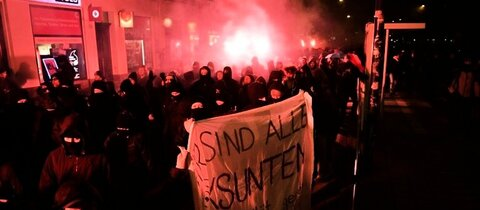 Demonstranten in Leipzig