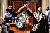 Salva Kiir (links) und Riek Machar