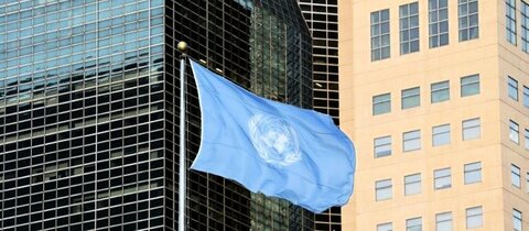UN-Flagge am Hauptquartier der Vereinten Nationen in New York