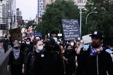 Demonstranten in New York