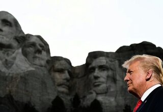 Trump am Mount Rushmore