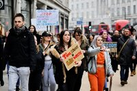Demonstranten in London