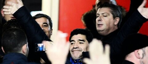 Diego Maradona in Neapel 2014