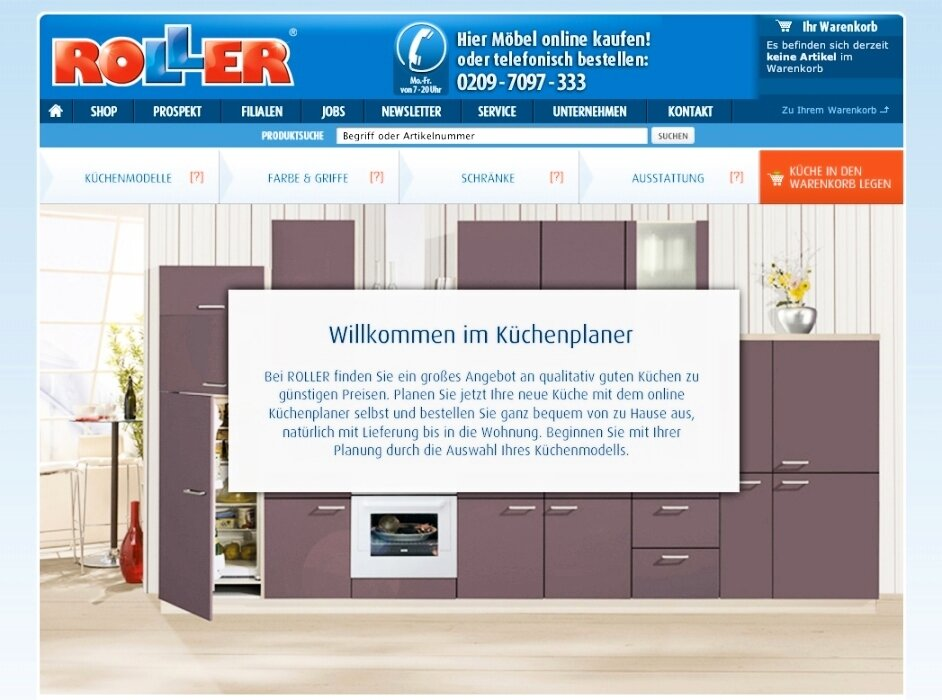 erstmalig online k chen planen und bestellen auf www. Black Bedroom Furniture Sets. Home Design Ideas