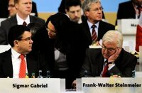 SPD-Spitze (v.l.): Gabriel, Nahles, Steinmeier