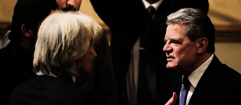 Karslioglu (l.) und Gauck