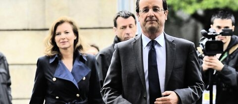 Trierweiler (l.) und Hollande