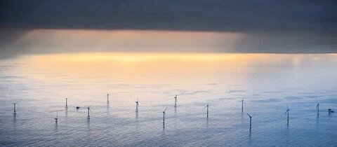 Offshore-Windpark Alpha Ventus in der Nordsee
