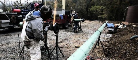 Bau einer Gas-Pipeline in Kentucky