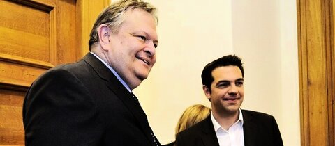Venizelos (l.) und Tsipras