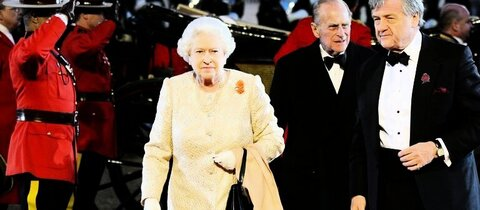 Elizabeth II. und Prinz Philip (M.) in Windsor