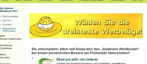 "Foodwatch nominiert Produkte für ""Goldenen Windbeutel"""