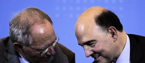 Schuble (l.) und Moscovici