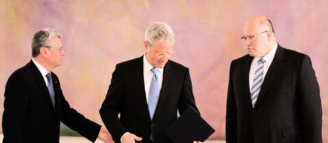 Gauck (v.l.), Rttgen und Altmaier