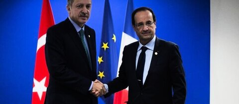 Erdogan mit Hollande in Rio