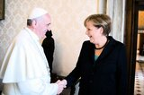 Merkel traf den Papst in einer Privataudienz