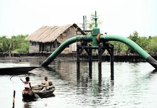 Öl-Pipeline in Nigeria