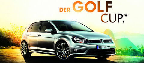 volkswagen pr sentiert den golf als cup sondermodell. Black Bedroom Furniture Sets. Home Design Ideas