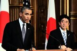 Obama (l.) und Abe in Tokio